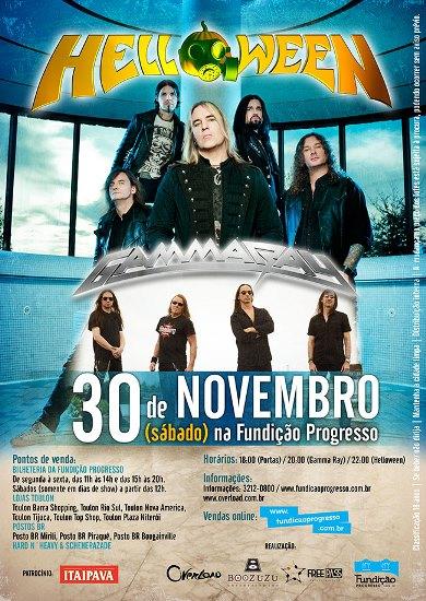 Helloween e Gamma Ray no Rio de Janeiro